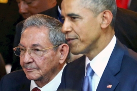 The presidents of the US and Cuba met in Panama City in April, marking a potential turning point in relations [Al Jazeera]