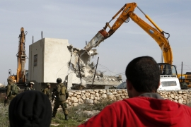 In 2015, 31 human rights groups condemned Israel's 'wanton destruction of Palestinian property and of projects funded by international aid in the occupied West Bank' [EPA]