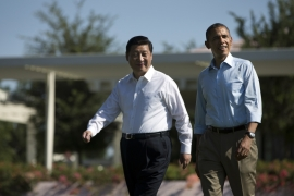 "Sunnylands in Rancho Mirage is where Obama held his famous ""shirt-sleeves summit"" with Xi in 2013 [Evan Vucci/AP Photo]"