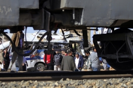 A school bus collided with a train near Cairo last March [File: Mohamed Abd El Ghany/Reuters]