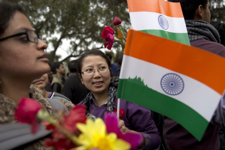 The Delhi arrest has set off the largest nationwide protests by students in 25 years [Tsering Topgyal/AP]