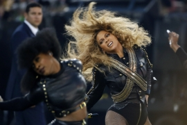 Critics called Beyonce's video an affront to the police, writes Aidi [AP]
