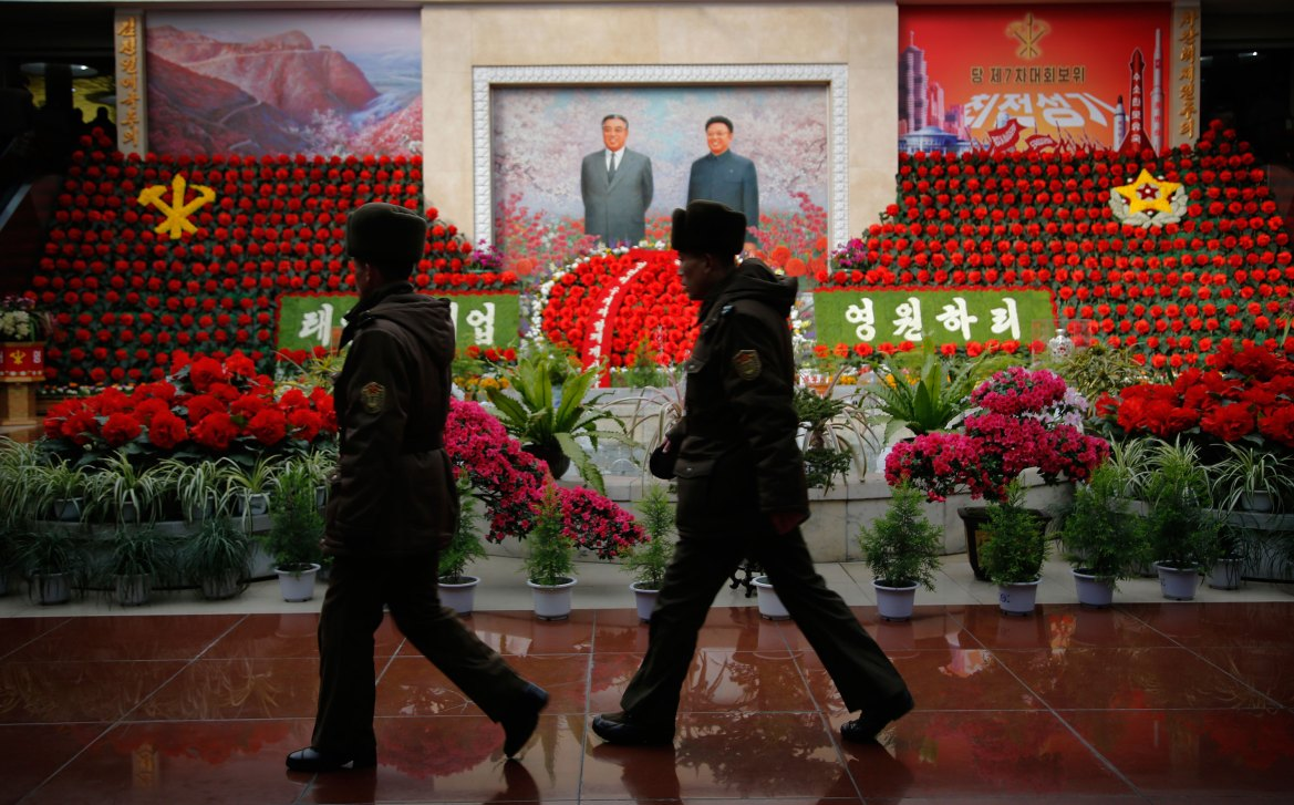 Kim Jong Il's birthday has been labelled the 'Day of the Shining Star'. [Wong Maye-E/AP]