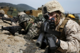 As many as 50,000 South Korean soldiers and about 17,500 US troops are taking part in the exercises [File: Reuters]