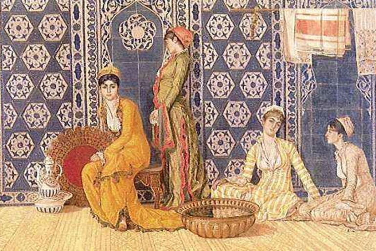 From the Harem, Osman Hamdi Bey, 1880 [Erol Kerim Aksoy collection]