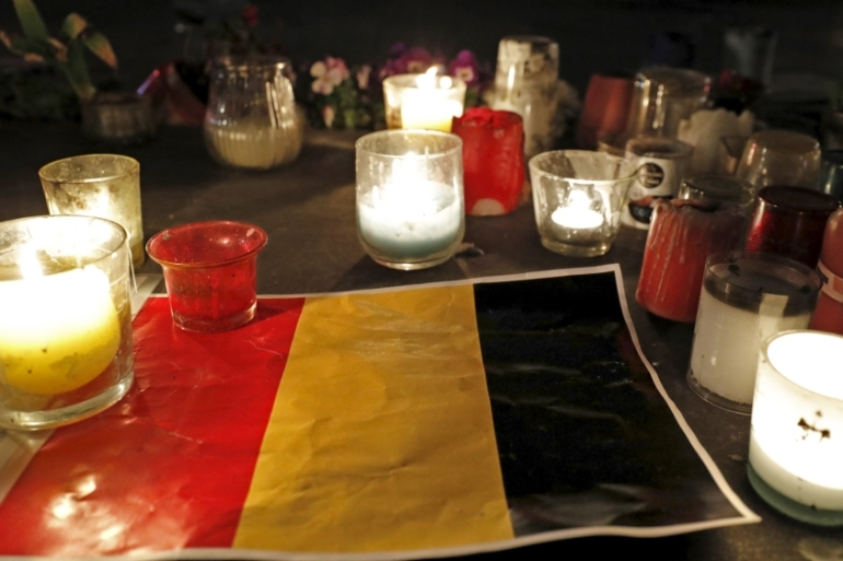 The attacks on Brussels prompted gestures of solidarity from throughout the world [Philippe Wojazer/Reuters]