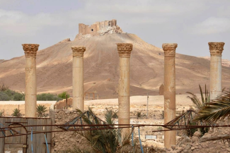 A general view of Palmyra citadel, central Syria [AP] [The Associated Press]