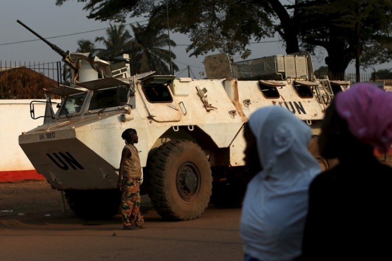 The UN mission in Central African Republic has been accused of failing to protect civilians [Reuters]