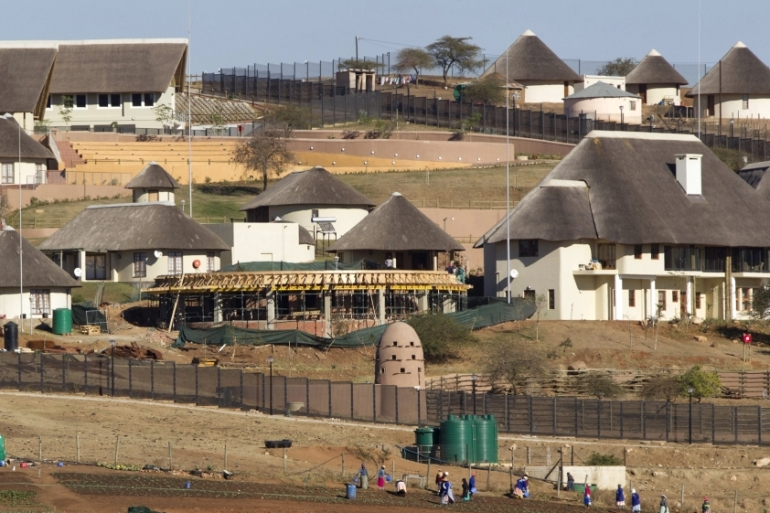 $16m of government money was used to upgrade South African President Jacob Zuma's home in Nkandla [Rogan Ward/Reuters]