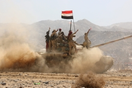 A coalition of Arab states launched a military campaign in 2015 to defeat the Houthis and restore Yemen's government [EPA]
