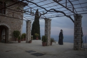 On Mount Athos, monks seek to isolate themselves from the temptations of the world by isolation and communion with Nature and the Divine [Iason Athanasiadis]