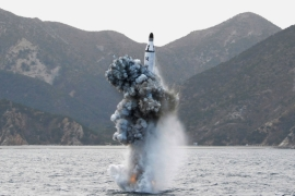 A strategic submarine ballistic missile was test-fired last week, North Korean government claimed [Reuters]