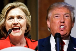 The poll found that Americans hold resoundingly negative opinions of both candidates [EPA]