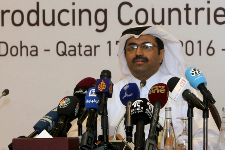 Qatar's energy minister said consultations would continue until an OPEC meeting in June [Ibraheem Al Omari/Reuters]