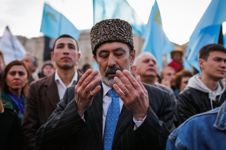The Turkic-speaking, Muslim ethnic group of 250,000 largely resisted the 2014 annexation of Crimea [File: Roman Pilipey/EPA]