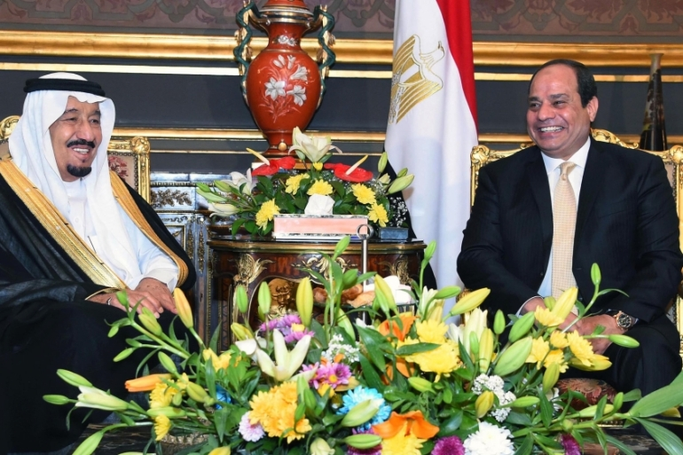 Egypt announced in April that the strategically-important islands of Tiran and Sanafir are in Saudi territorial waters [AP]