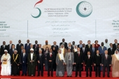 Leaders pose for photographs at the Fifth Extraordinary OIC Summit in Jakarta, Indonesia, in 2016 [EPA]