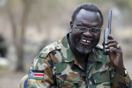 Machar was Kiir's deputy until July 2013, when his sacking triggered fighting [File: Goran Tomasevic/Reuters]
