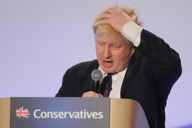 Mayor of London, Boris Johnson, addresses the Conservative Spring Forum in central London, Britain. Kerry Davies [Reuters]