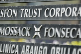 About 115 million records kept by Panama-based law firm Mossack Fonseca were leaked to the press [Arnulfo Franco/AP]