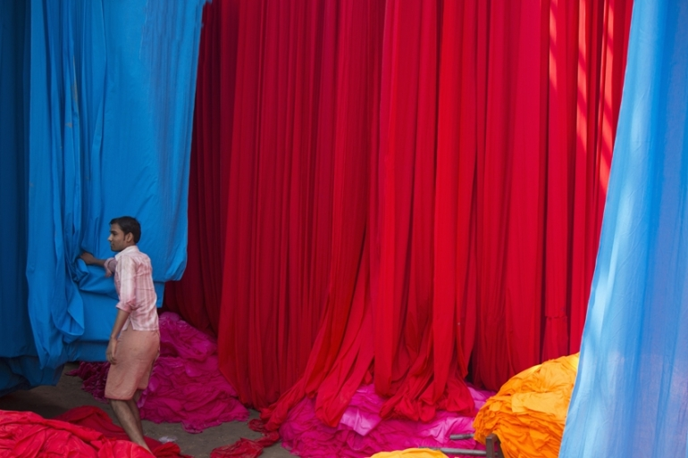 India is the world's second largest exporter of textiles after China [Grant Faint/Getty Images]