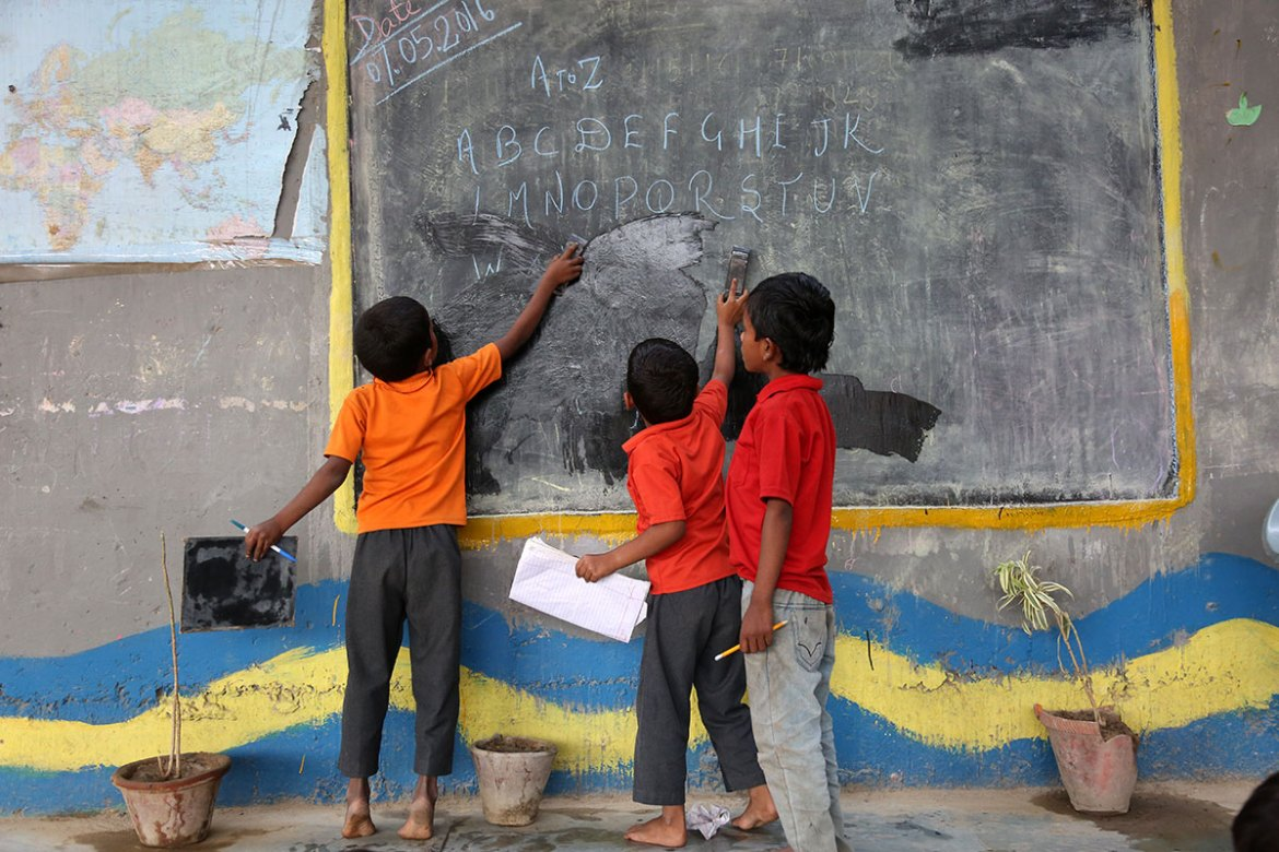 According to UNESCO, 17.7 million children and adolescents do not attend school in India. [Showkat Shafi/Al Jazeera]