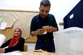 The municipal elections that got under way on Sunday mark the first vote in Lebanon in six years [Reuters]