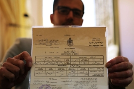 Khalid's birth certificate was not enough for Israeli authorities to allow him to cross the border into Jordan [Abed al-Qaisi/Al Jazeera]