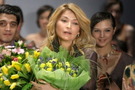 Gulnara Karimova at the Fashion Week in Moscow, Russia in 2011 [Mikhail Metzel/AP]
