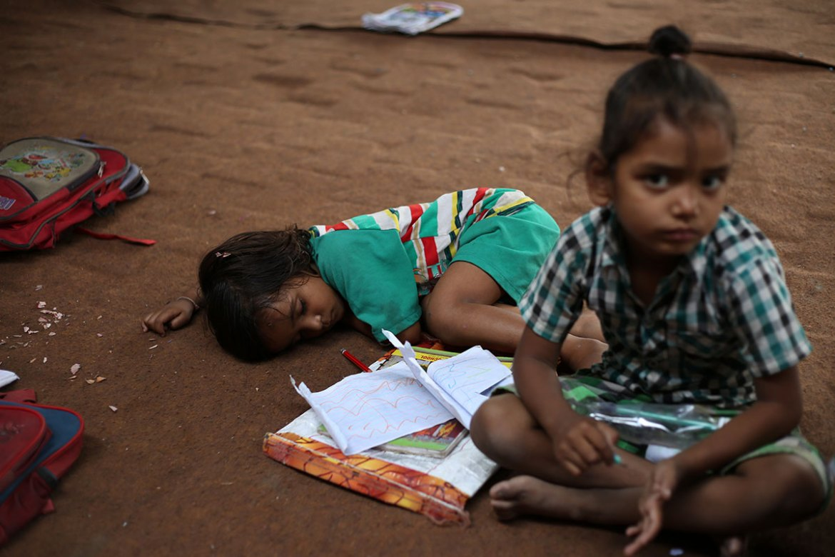 Pupils from nursery to class 8 attend the free school. [Showkat Shafi/Al Jazeera]