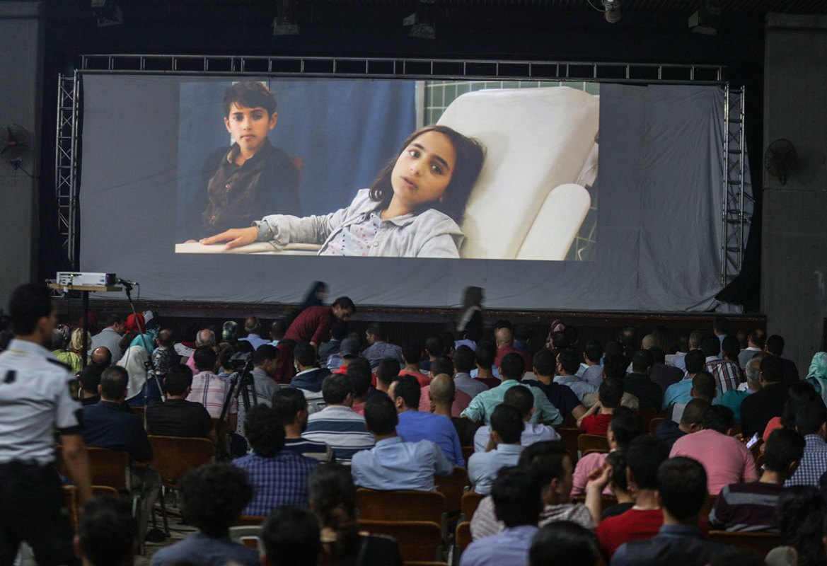 This is the second time the film festival has been held in Gaza. [Wissam Nassar/Al Jazeera]