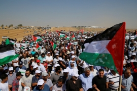 This year marked the first time that the March of Return took place in the Negev/Naqab, a decision heavy with political significance [Ammar Awad/Reuters]