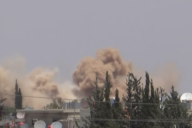 Khan Eshieh has been hit by waves of barrel bombs in recent days [Al Jazeera]