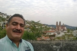 Mexican journalist Francisco Pacheco Beltran was killed on April 25, 2016 as he left his house in Taxco [EPA/QUADRATIN]