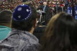 Sanders calculated that not only would his statement on Israel not cost him votes, it was likely to gain him some, writes Perry [AP]