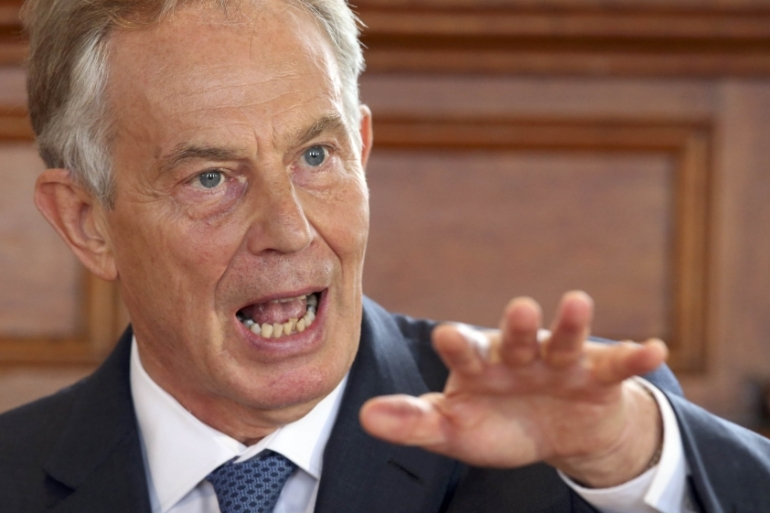 Former British Prime Minister Tony Blair [Reuters]