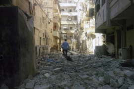 Aleppo bombardment kills dozens including children
