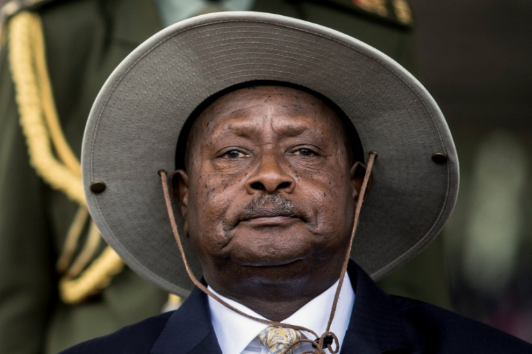 During his State of the Nation address on January 1, Museveni, who came to power in Uganda more than three decades ago, called Trump an honest man [Edward Echwalu/Reuters]