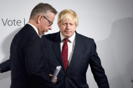 Johnson and Gove led the Leave campaign that saw the UK vote to leave the EU and forced PM David Cameron's resignation [EPA]