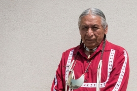 Wilson Roberts, an elder member of the Choctaw nation, believes the earth is out of balance [Nicholas Linn/Al Jazeera]
