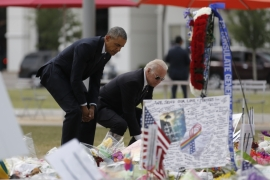 At Orlando's Pulse memorial, Obama pushes gun control
