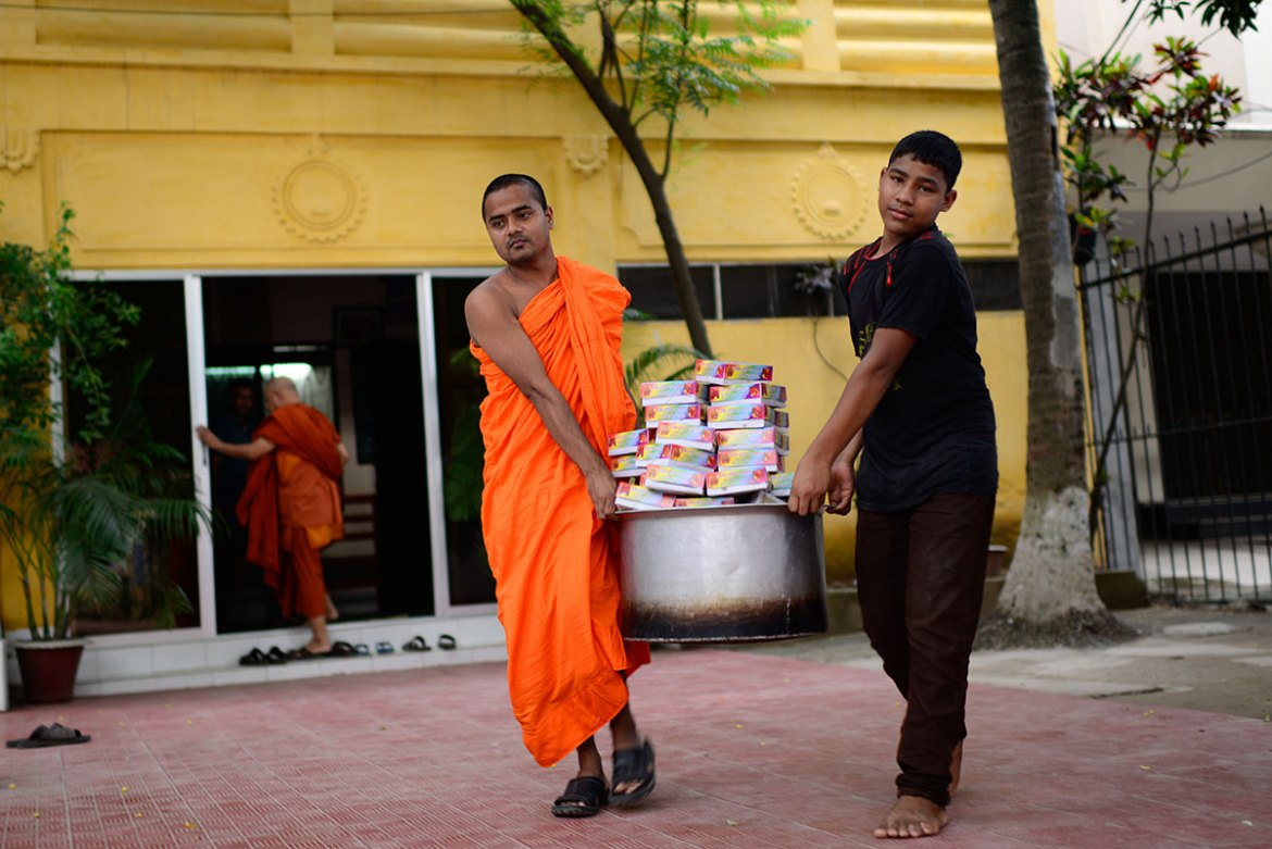 Buddhists are less than one percent of Bangladeshi population, mostly residing in the country's southeastern districts bordering Myanmar. [Mahmud Hossain Opu/Al Jazeera]