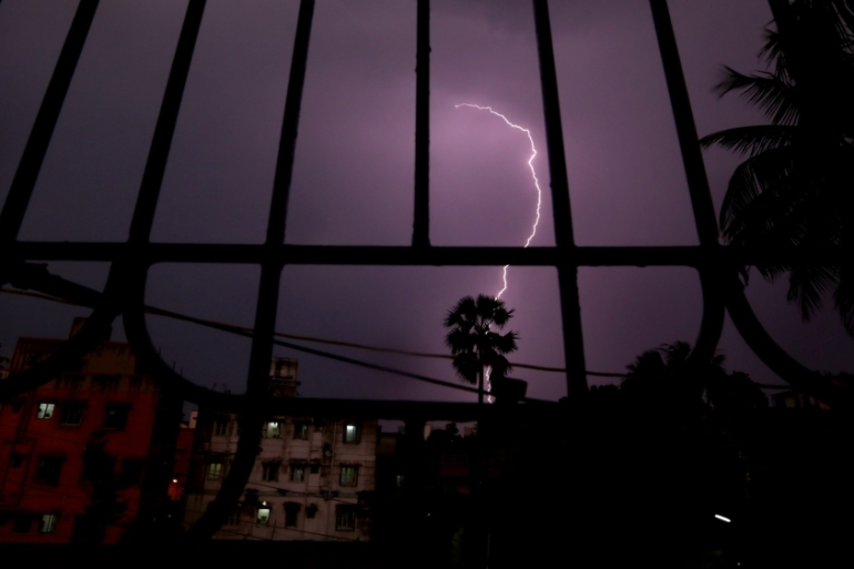 File: More than 2,500 people were killed by lightning in India in 2014 [Piyal Adhikari/EPA]