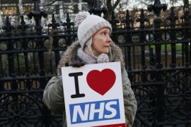Founded by a Labour government in 1948, the NHS operates on the principle of free healthcare for all. It regularly polls as one of the things of which Britons are most proud [Stefan Wermuth/Reuters]