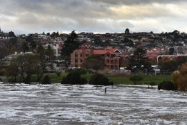 The storm comes just a week after some of the worst floods on record hit Tasmania [Dean Lewins/EPA]