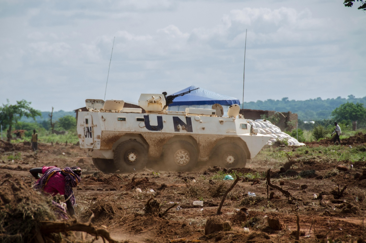 The spontaneous displacement created immediate security concerns for thousands of IDPs staying on a site protected by nothing but barbed wire. A UN armoured personnel carrier is now stationed at the site, and UN troops are patrolling the perimeter. But there are only 10 troops on duty at any one time, and there are concerns that the extension of the camp is taking new residents further away from the UNMISS base.  [Richard Nield/Al Jazeera]