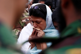 A relative mourns a victim who was killed in the recent attack in Dhaka, Bangladesh [Reuters]