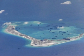 The Pagasa island, which belongs to the disputed Spratly group of islands in the South China Sea [File: Rolex Dela Pena/Reuters]