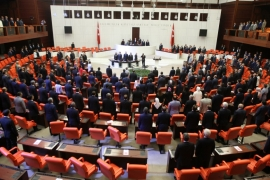 Politicians attend an extraordinary assembly at the Turkish parliament on July 16. All parliamentary parties denounced the coup attempt [EPA]