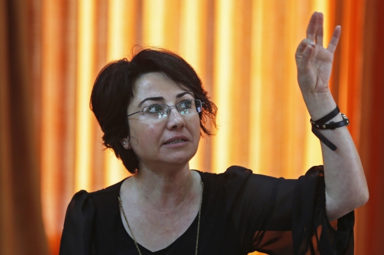 Knesset member Haneen Zoabi topped the list, with 60,000 hateful online posts targeting her in 2016 [EPA]